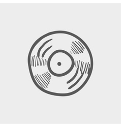 Vinyl disc sketch icon vector image