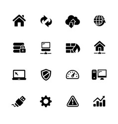 web developer icons vector image vector image