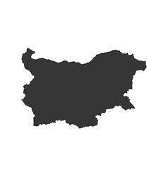 Republic of bulgaria map silhouette vector