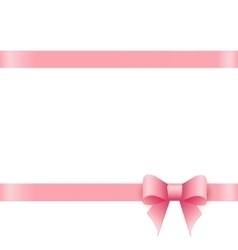 Gift card with pink bow and place for text vector image