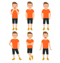 Boys different emotions llustration vector