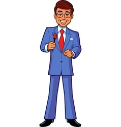 Game show host announcer vector