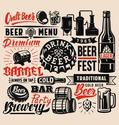 beer badges vector image