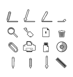 Document icons set business information vector