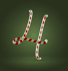 Candy cane abc 4 vector