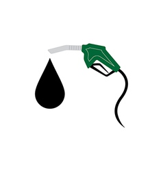 Green Fuel nozzle with drop vector image