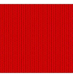 Knitted seamless pattern red vector