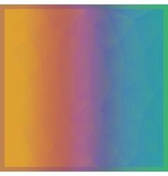 Abstract geometric bright rainbow polygonal vector image