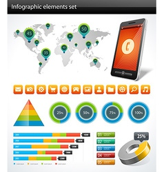 Design elements for infographic vector image