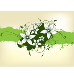Abstract background with floral elements and vector