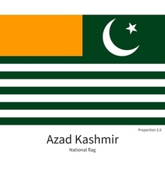 National flag of azad kashmir with correct vector