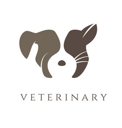 Logo template for veterinary clinic with cat and vector