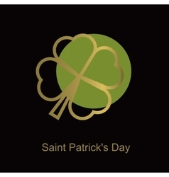 Irish four leaf lucky clovers background for happy vector