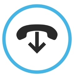 Phone hang up flat rounded icon vector