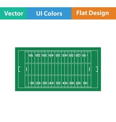American football field mark icon vector