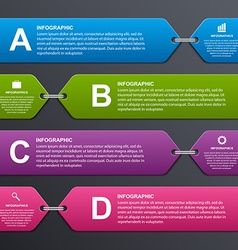 Abstract colorful infographic options banner vector