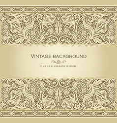 antique style invitation light vector image vector image
