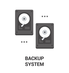 backup system icon vector image vector image