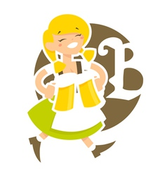 bavarian girl vector image