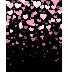 Black background with hearts vector