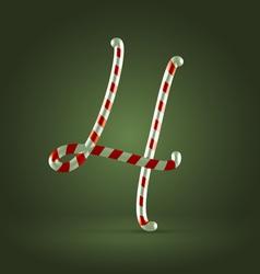 Candy cane abc 4 vector