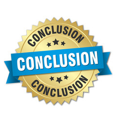 Conclusion round isolated gold badge vector