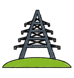 Electrical tower icon vector