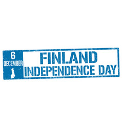 finland independence day grunge rubber stamp vector image vector image