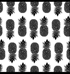 fresh black and white pineapples geometric vector image