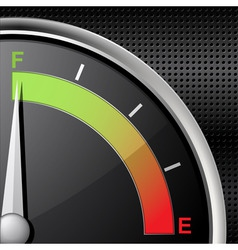 full fuel gauge vector image vector image