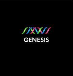 genesis or genetics logo vector image