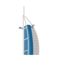 Hotel burj al arab in united arab emirates dubai vector