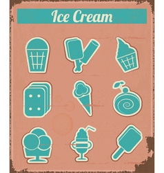 Ice cream - vintage set labels vector