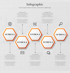 infographic with polygonal figures vector image vector image
