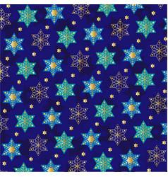 Jewish star snowflake pattern vector
