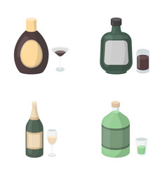 Liquor chocolate champagne absinthe herbal vector