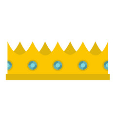 Little crown icon isolated vector