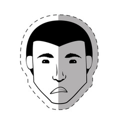 Male head look expession vector