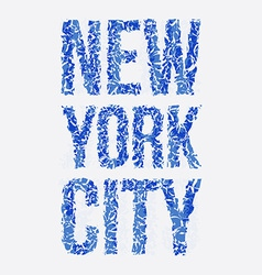 New york typography t-shirt graphics vector