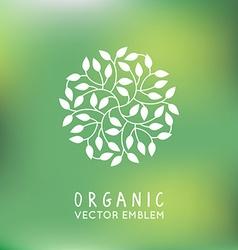 Organic and natural emblem vector