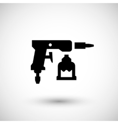 Paint gun icon vector image