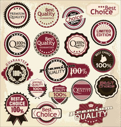 Premium and high quality labels vector
