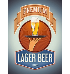 Premium lager beer vector image vector image