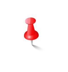 red push pin thumbtack top view vector image vector image