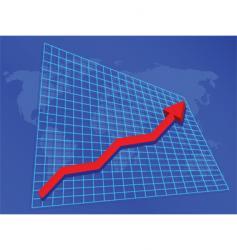 rising profits vector image