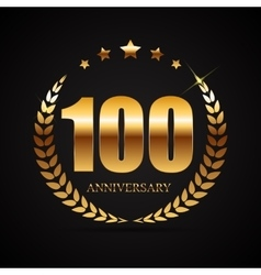 Template logo 100 years anniversary vector