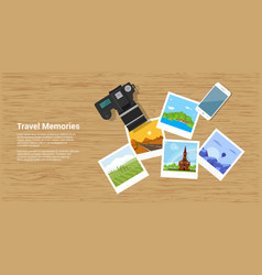 Travel memories banner vector