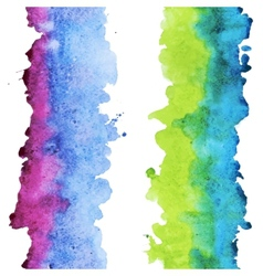 Watercolor colourful stripes vector image