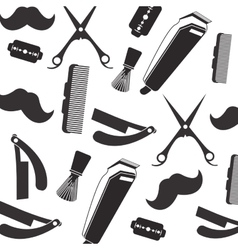 Barber shop pattern vector