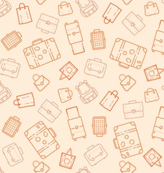 Bags and suitcases seamless pattern vector